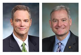 Rep. Ross Hunter (D-48) (left) is Chair of the House Appropriations Committee.Rep. Reuven Carlyle (D-36) (right) is chair of the House Finance Committee.
