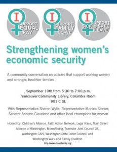 Vancouver Women's Economic Security Forum1