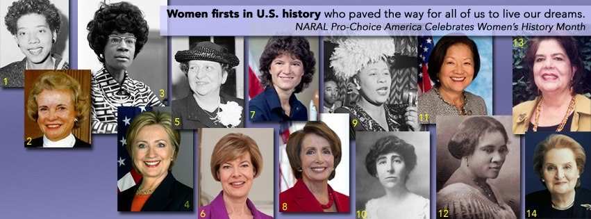 "Can you name each of these female ""firsts""?"